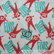 BonEful Fabric FQ Cotton Quilt VTG Old World Elvis Guitar Music Ethnic Boy Girl