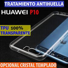 FUNDA TPU DE Gel TRANSPARENTE para HUAWEI P10 + Protector CRISTAL TEMPLADO