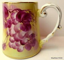 Limoges Mug China Purple Grapes Tankard