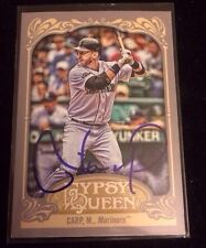 MIKE CARP 2012 TOPPS GYPSY QUEEN Autographed Signed AUTO Baseball Card 299 MARIN