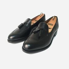 J.M.Weston Tassel Loafers, Black Boxcalf Size 7.5 UK, 41.5 EU