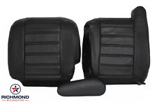 2003-2007 Hummer H2 SUV SUT -Complete Driver Side Leather Seat Covers Black