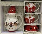 Brand New Villeroy and Boch Teapot, Warmer  2 Cups Christmas Reindeer Jul Glogg