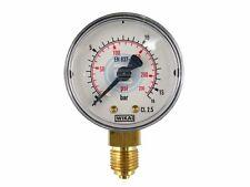 """Senkrecht Manometer WIKA für Vakuum und Druck Klasse 2.5 G1/8"""" G1/4"""" G1/2"""" Luft"""