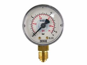 """Vertical Manometer WIKA For Vacuum And Print Class 2.5 G1/8 """" G1/4 """" G1/2 """" Air"""