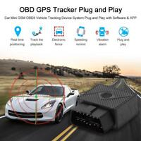 GPS Tracker Car GSM OBDII Vehicle Tracking Device System Mileage Recorder M6D3