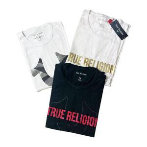 Genuine New Mens True Religion Brand Jeans T-Shirt S - 3XL In Stock Huge Savings