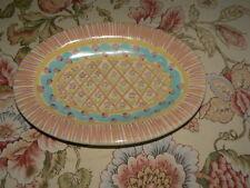 "Vintage Mackenzie-Childs Victoria and Richard 10 3/8"" Serving Platter 1991"
