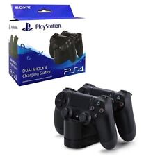 SONY PLAYSTATION 4 CARICATORE DOPPIO CONTROLLER ORIGINALE DOCK STATION PAD PS4