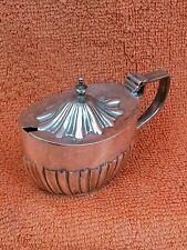 More details for antique sterling silver hallmarked mustard pot 1897 fenton brothers ltd