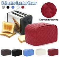 AUGIENB Polyester Toaster Cover for 4-Slice Kitchen Dust Protective Case Decor