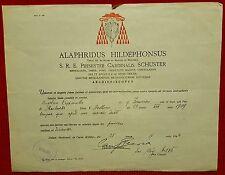 G4-MILANO, CERTIFICATO CARDINALIZIO ALFREDO ILDEFONSO SCHUSTER, 1944