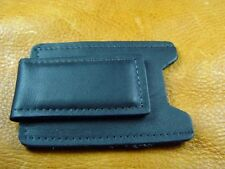 Black Cowhide Leather MoneyClip CardCase handcrafted in USA by disabled vet 5034