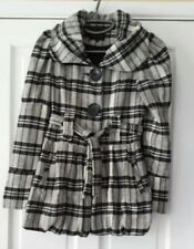 NEW LOOK BLACK CHECK WOOL MIX JACKET SIZE 6