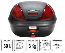 E370 N E370N GIVI Monolock® Topcase schwarz rot + Universalplatte Motorrad NEU