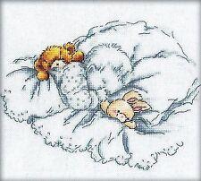 Riolis puntada cruzada contada Kit de tarjeta de bebé recién nacido niño//niña R995