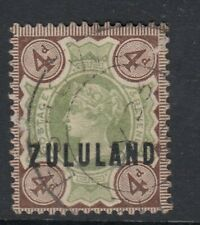 ZULULAND -  USED SG6 4d Green-Deep Brown
