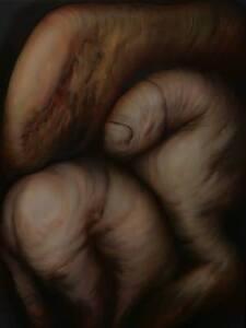"16"" Oil Artwork LIBIDO Painting on Limewood Baroque Edgar Balogh Romanian Artist"