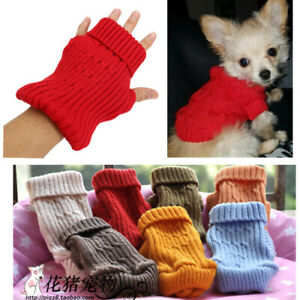 Dog Puppy Jumper Sweater Knit Warm Xmas Sweatshirt for Shih Tzu Yorkie XXXS XXS