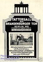 Tattersall Brandenburger Tor Reklame von 1929 Reitstall Berlin Werbung Pferd