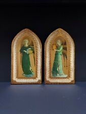 More details for italian florentine fra angelico/beato angelico hand made gold leaf wall plaques