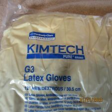 Kimberly Clark Safety 56811 KIMTECH PURE Latex Gloves 100 Gloves 50 pair M size9