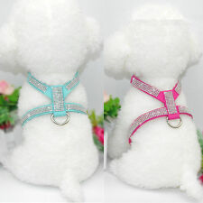 XXS/XS Dog Harness Soft Vest W/ Bling Rhinestone for chihuahua yorkie Toy Poodle