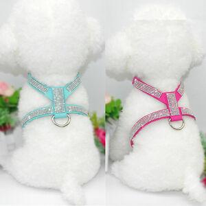 XXS/XS Dog Harness Soft Vest W/ Bling Rhinestone for chihuahua yorkie Toy Poodle