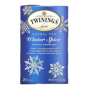 Herbal Tea, Winter Spice, Caffeine Free, 20 Tea Bags, 1.41 oz (40 g)