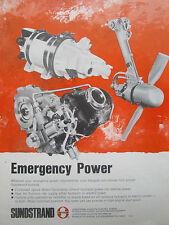 1/1976 PUB SUNDSTRAND AVIATION EMERGENCY POWER RAM AIR TURBINE GENERATOR AD