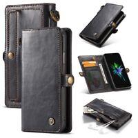 CASEME Detachable 2-in-1 Split Leather Wallet Phone Case for iPhone XR 6.1 inch