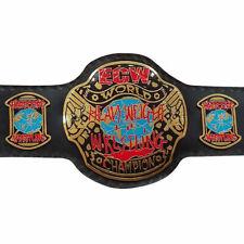 2x ECW World Heavyweight Championship Title Belt Brass Plated Metal Adult 2pcs