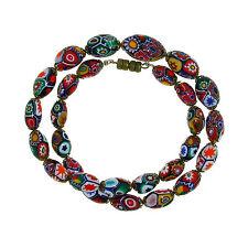 Moretti glass necklace, millefiori  beads, 1930. Murano Venezia
