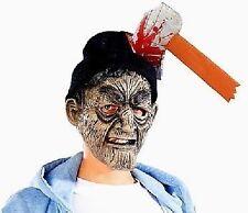 Halloween Fastnacht Mütze mit Axt im Kopf Helloween Horror Verkleidung Karneval