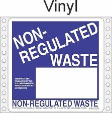 Non-Regulated Waste Vinyl Labels HWL260V (PACK OF 500)