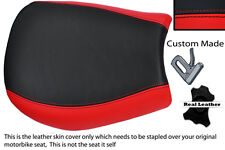RED & BLACK CUSTOM FITS TRIUMPH SPEED TRIPLE 955 i 97-01 FRONT SEAT COVER