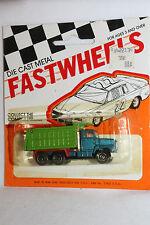 1970's Playart Fast Wheels, Ford Dump Truck, Green & Blue,  New on Card
