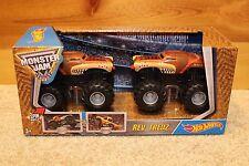 Monster Jam Rev Tredz ERROR HTF 2 Monster Mutt vs El Toro Loco Hot Wheels Rare