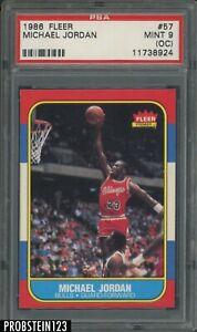 "1986 Fleer Basketball #57 Michael Jordan RC Rookie HOF PSA 9 (OC) "" PACK FRESH """