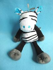 Tesco Cuddle & Love Zak Zebra plush baby soft toy comforter Jumping Jungle