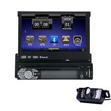 1 Din In Dash Car Stereo GPS SAT NAV Touchscreen DVD CD Player Bluetooth+CAMERA