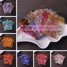 Wholesale Lot 12X9cm Jewelry Candy Organza Pouch XMAS Wedding Favor Gift Bags