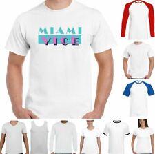 Miami Vice T-Shirt Retro TV Show 80's Programme Top Logo TEE TOP