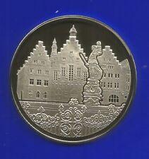 Neu-Silber-Medaille-Frankfurter Stadtansichten-1999-Polierte Platte-