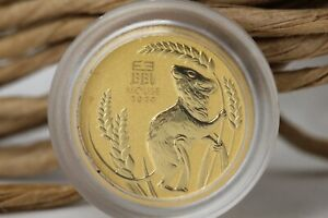 Australien 5 Dollar 1/20 oz Gold Münze Mouse 2020 Lunar 3 gekapselt 1/20 Oz #M04