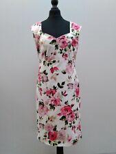 Pomodoro floral dress size 10 sweetheart neckline good condition