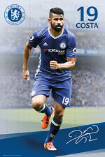 New DIEGO COSTA Chelsea FC 16/17 SIGNATURE SERIES Football Soccer Action POSTER