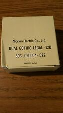 NOS genuine Nec print thimble for NEC impract printers Font Dual Gothic Legal 12