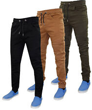 New Mens 7 Series Cuffed Slim Fit Stretch Cotton Twill Elasticated Joggers Jeans
