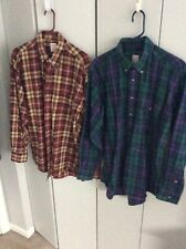 Two Brooks Brothers Mens L Flannel Shirts FREE SHIPPING
